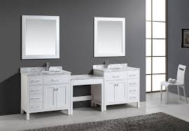 Bath Vanities With Dressing Table by Bathroom White Wooden Cabinet And Sink Plus Makeup Table With