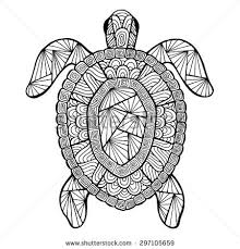 Stress Management Detailed Sea Turtle Advanced Coloring Page