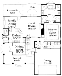 Craftsman Style Floor Plans Bungalow by Houseplans Com Craftsman Main Floor Plan Plan 38 1900 House