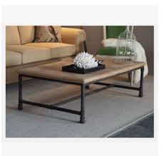 Charming Industrial Style Coffee Table Extraordinary Glass Top