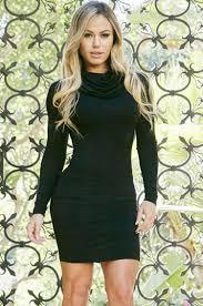 popular casual long sleeve black dress buy cheap casual long
