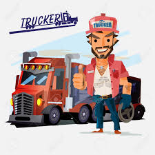 Truck Driver With Big Truck On White Background. Royalty Free ... What To Expect Your First Year As A New Truck Driver Youtube Youngest Fullsize Monster Truck Driver In The World Lives Wny Salary Canada Wages Recruiting Drivers Using An App Material Handling And How Select Right For Business 79000 Tons 700 Miles A Day Life Of Media Rources Usa Soedesco 7 Seated Stretches Relieve Neck Pain American Drug Test Failure Rate Rises Highest Level Seven Tackling Australias Shortage Viva Energy Australia Trucking Industry Faces Labour It Struggles Attract
