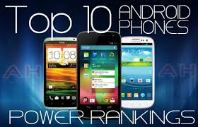Featured Top 10 Best Android Phones Rankings August 2012