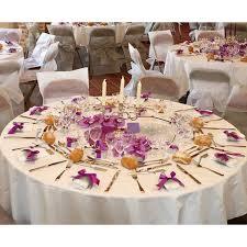 nappe ronde 300cm blanche en tissu intisse decoration mariage
