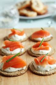 canape de smoked salmon canapes free stock photo domain pictures