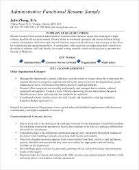 Functional Resume Sample Pdf 0