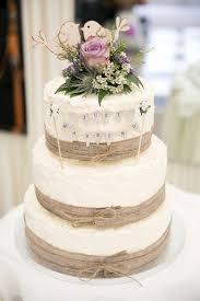 Rustic Burlap Wedding Cake Bunting Topper