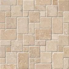 ivory travertine mini versailles tumbled mesh backsplash tile