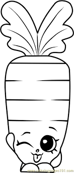 Wild Carrot Shopkins Coloring Page