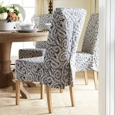 Stylish Round Back Dining Room Chair Covers Cool Linen Decor