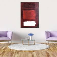 abstraktes großes bild acryl painting rot weiß 50x70cm art013
