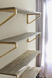 LOVE This Look Of These And Gold Shelves If I Can Modify To Create Something That Works For My Book Space In Our Cup Half Full Rustic Wood Shelf DIY