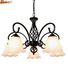 HGhomeart Living Room E27 Retro Chandelier Iron Art Simple Atmosphere Modern Bedroom Restaurant Ceiling Lamp