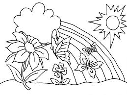 Spring Coloring Pictures For Season Activity