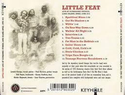 cd album little feat live at ultrasonic studios long island