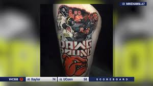 100 Semi Truck Tattoos Browns Fan Gets Epic Tattoo Of Infamous Brawl CNN Video