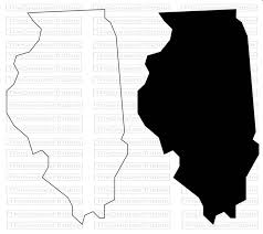 Us Map Transparent Background California Plain Outline No Clipart 26 New Illinois State Svg