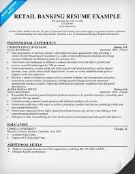 Retail Banking Resume Help