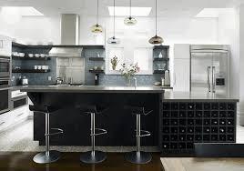 kitchen island prep table light grey lower cabinet caramel brown