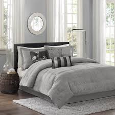 Bella Lux Bedding by 7 Piece Comforter Set Queen Grey Ease Bedding With Style