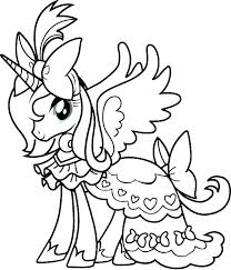 Coloring Pages My Little Pony Rarity