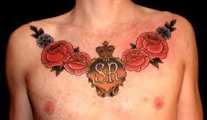 Rose Chest Tattoos For Men 2013