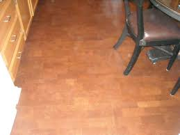 Pros And Cons Of Cork Flooring In Kitchens With Nice Leather Armless Chair Design