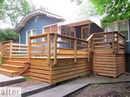 Metal Deck Skirting Ideas by Best 25 Wood Deck Railing Ideas On Pinterest Deck Railings