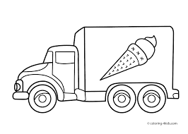 Simplified Truck Coloring Pages For Preschoole #2132 - Unknown ...