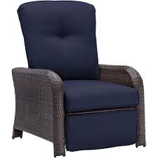 Hanover Strathmere All-Weather Wicker Reclining Patio Lounge Chair With  Navy Blue Cushion Teak Patio Chair Fniture Home And Garden Fniture High The Weatherproof Outdoor Recliner Amya Contemporary Chair With Plush Cushion By Of America At Rooms For Less Hondoras In Bay Cream Klaussner Delray W8502 Cdr Gci Freestyle Rocker Mesh Flamaker Folding Patio Rattan Foldable Pe Wicker Space Saving Camping Ding Bungalow Rose Spivey Reviews Walmartcom Breeze Lounge