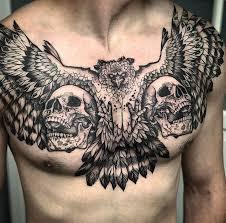 Harpy Eagle Skulls Mens Chest Piece