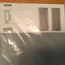 Ikea Aina Curtains Discontinued by Ikea Aina Pair Of Curtains Light Gray 2 Panels 57 X 98 New