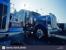 Kenworth Truck Parked On Iowa 80 Truck Stop, At Interstate 80 Near ...