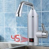 Elektrischer Wasserhahn Durchlauferhitzer Armatur Mischbatterie Elektrischer Wasserhahn Durchlauferhitzer Armatur Mischbatterie Warmwasserbereiter Mit Led Temperaturanzeige 3000w 220v