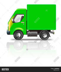 🔥 Delivery Truck Illustration Of Green Truck Isolated On White With ...