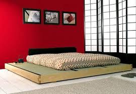 traditional futon with platform schlafzimmer design