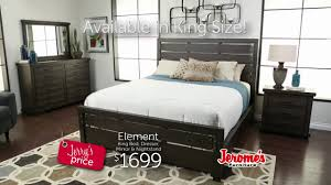 jerome s furniture element bedroom youtube