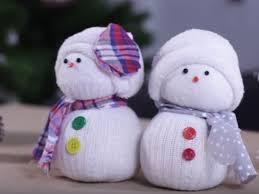 vidéo bricolage bonhommes de neige chaussettes