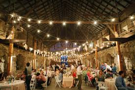 Image Of Elegant Barn Wedding Decorations