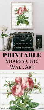 PRINTABLE Shabby Chic Wall Art This Printable Features A Weathered