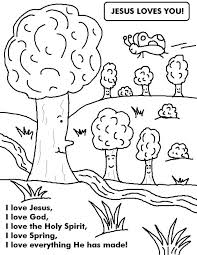 Free Printable Spring Coloring Pages For Kindergarten Printables Trees River