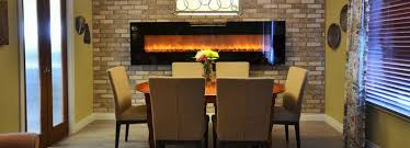 Dining Room With Linear Electric Fireplace
