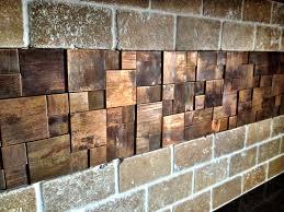 Metallic Tile Effect Wallpaper by Unique Copper Metal Backsplash Tiles With Copper Mosaic Is