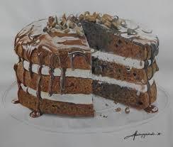Chocolate cake drawing by kajoycyrus via deviantart