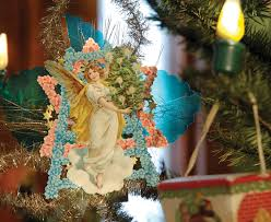 Handmade Angel Ornament About 1860 1900 Chromolithographic Scrap Paper And Metal Tinsel Private Collection