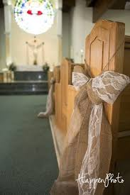 Ceremony Pew Church Burlap Lace Bow Decor Or For Seats