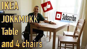 Ikea Kitchen Table And Chairs by Ikea Jokkmokk Kitchen Table And 4chairs Youtube