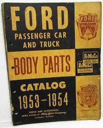 100 Ford Truck Body Parts 1953 1954 Catalog Book Car FoMoCo Crestline