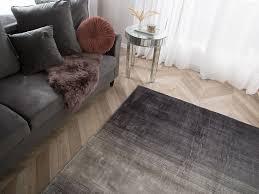 teppich ercis grau schwarz 200x200 cm ch