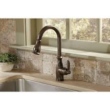 Moen Rothbury Wall Mount Faucet by Moen 7185 Brantford Single Handle Kitchen Faucet With Pull Out